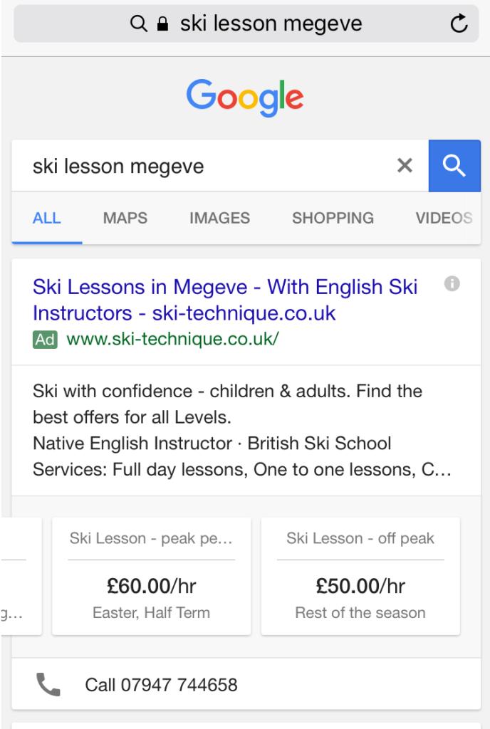Ski lesson megeve
